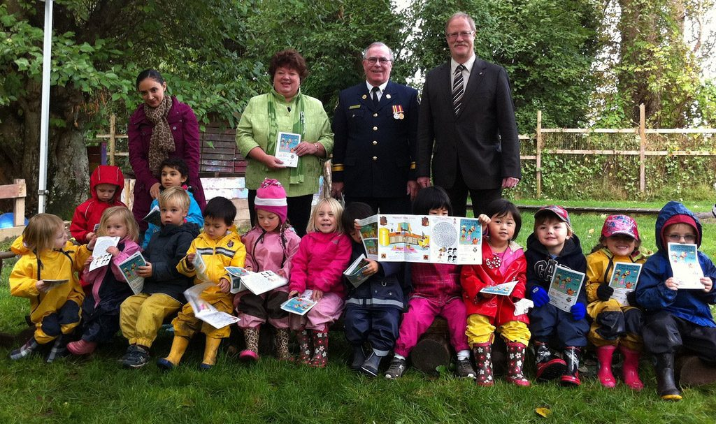 Children learning how to be FireSmart!