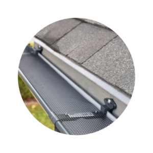 Clean roof gutter