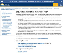 Crown Land Wildfire Risk Reduction